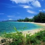 Beautiful Anini Beach in Kauai is the perfect family friendly spot.