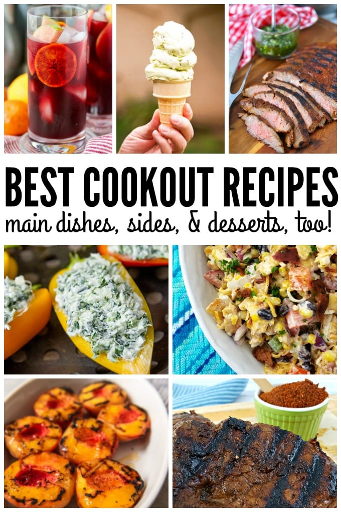 Collage of the Best Cookout Recipes