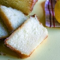 Slices of lemon bread