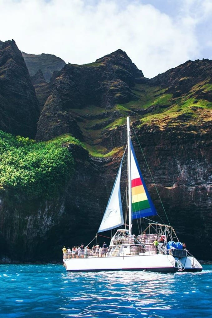 Our Kauai Sunset Cruise was the most incredible experience! We would definitely do the Na Pali sunset cruise again in a heartbeat. via @jugglingactmama