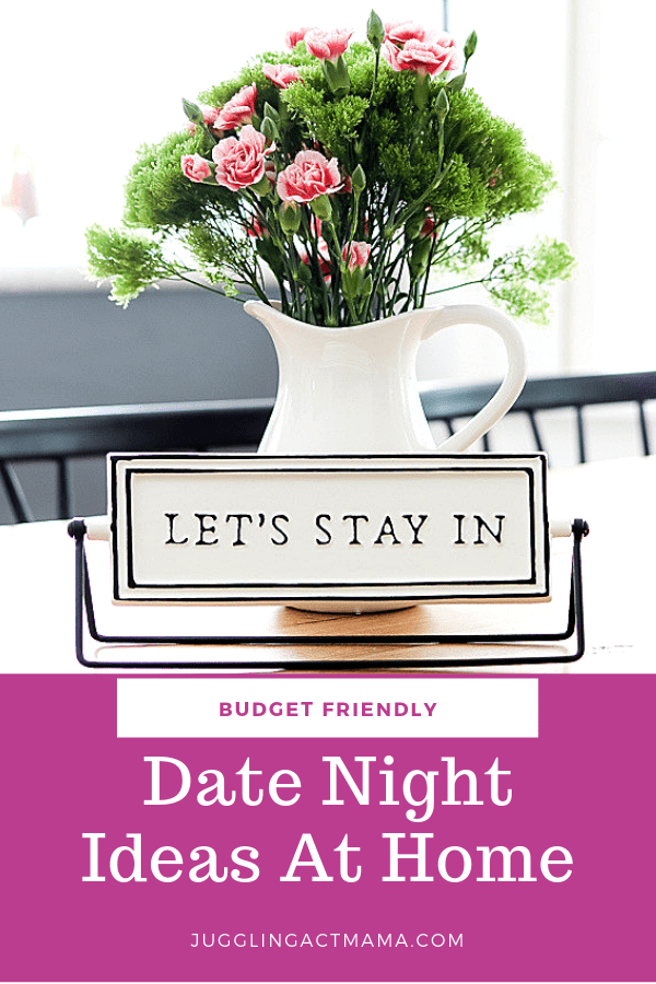 Date night ideas at home for when it's not in the budget for a sitter or you just don't want to leave the house #datenight #datenightideas