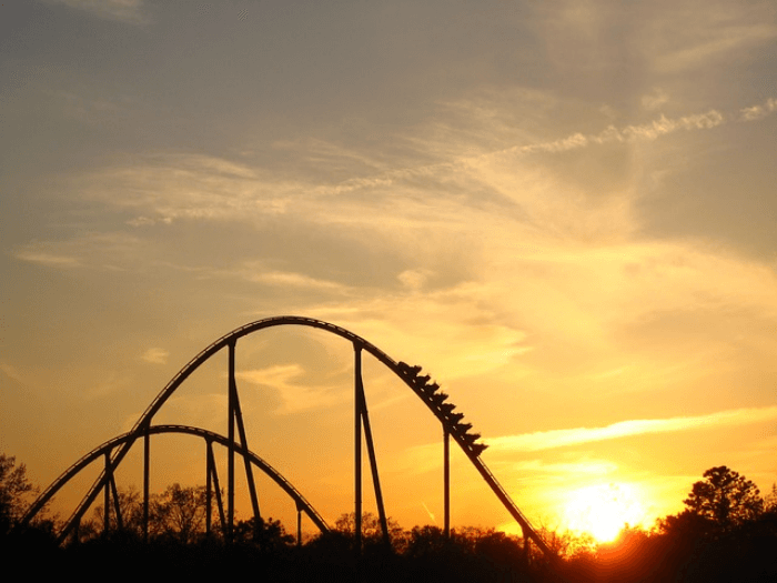Roller Coaster at Sun Set