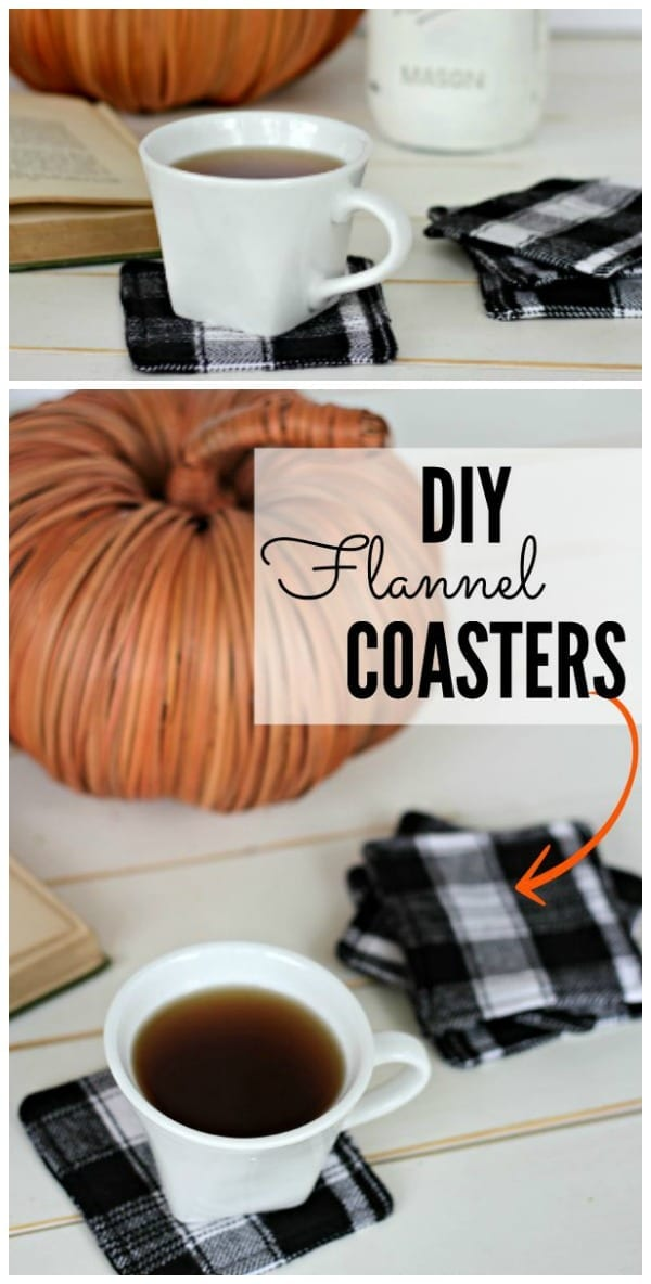 Easy DIY Flannel Coasters are fun and easy sewing project that makes a lovely handmade gift.