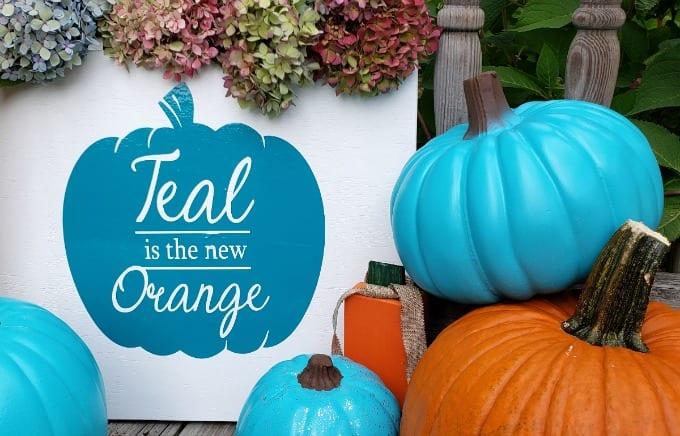 Diy Teal Pumpkin Project Decorations Juggling Act Mama