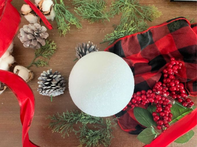 inexpensive supplies to make a fun holiday decor