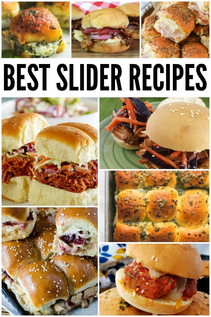 Slider recipes are perfect for feeding a crowd. From traditional sliders like burgers, ham, and turkey to more creative options, you'll find something here! via @jugglingactmama