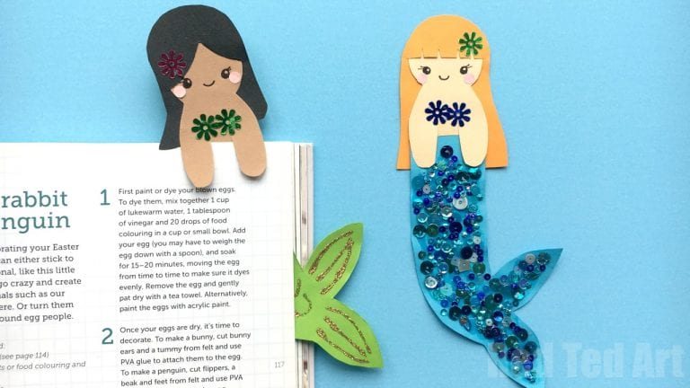 Bookmarks - - Mermaid Crafts for Kids