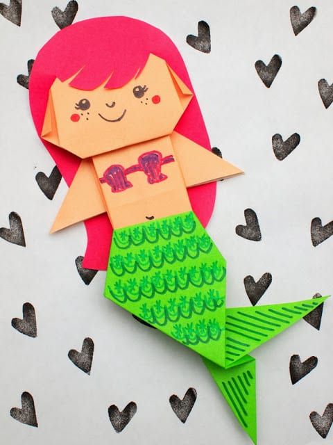 origami - Mermaid Crafts for Kids
