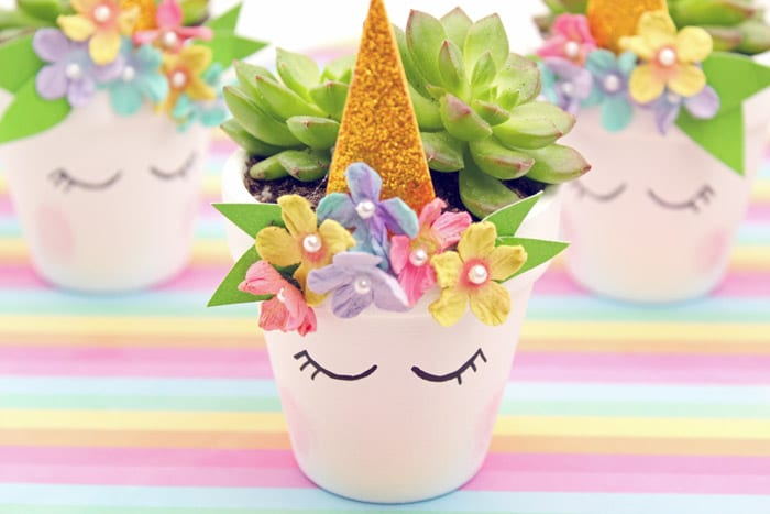 Unicorn Planter - Unicorn Arts and Crafts