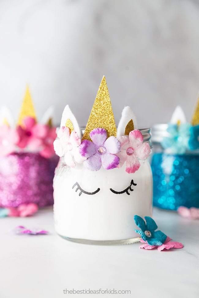 Unicorn Slime Jars - Unicorn Arts and Crafts