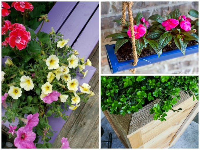 Homemade Planter Box collage