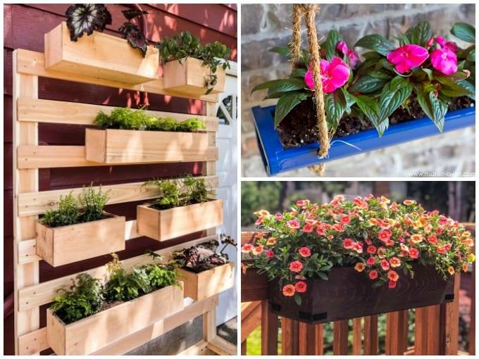 DIY Garden Container Ideas collage