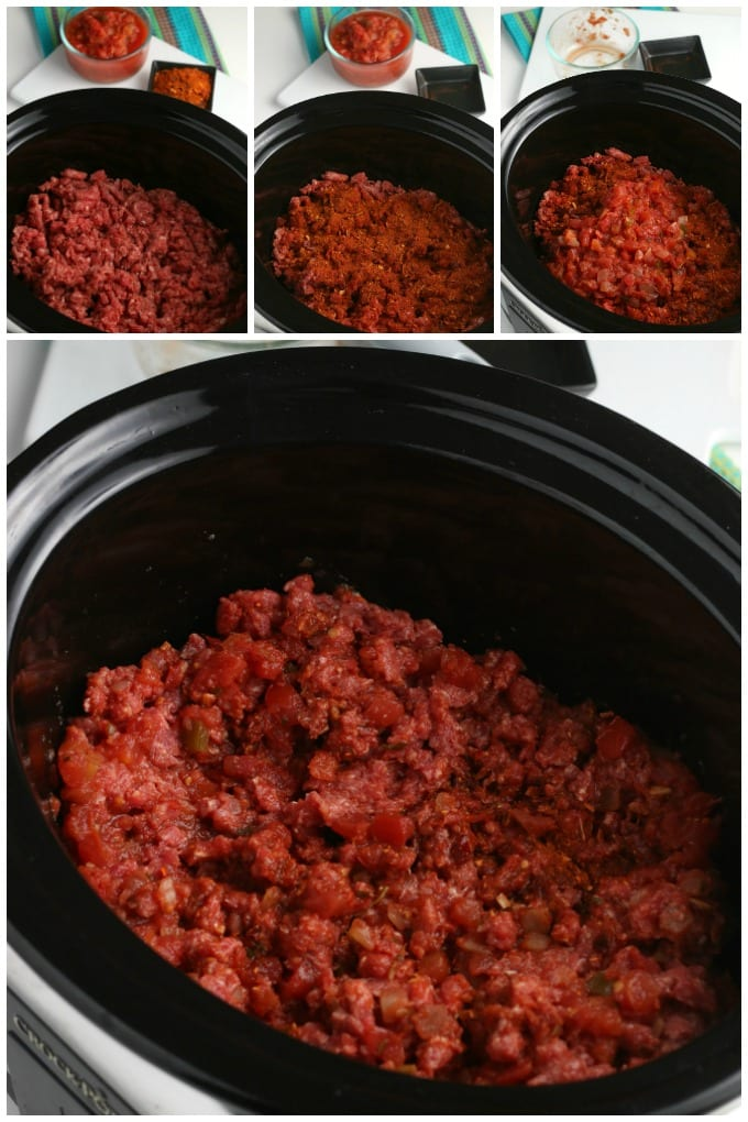 ground beef taco meat recipe collage