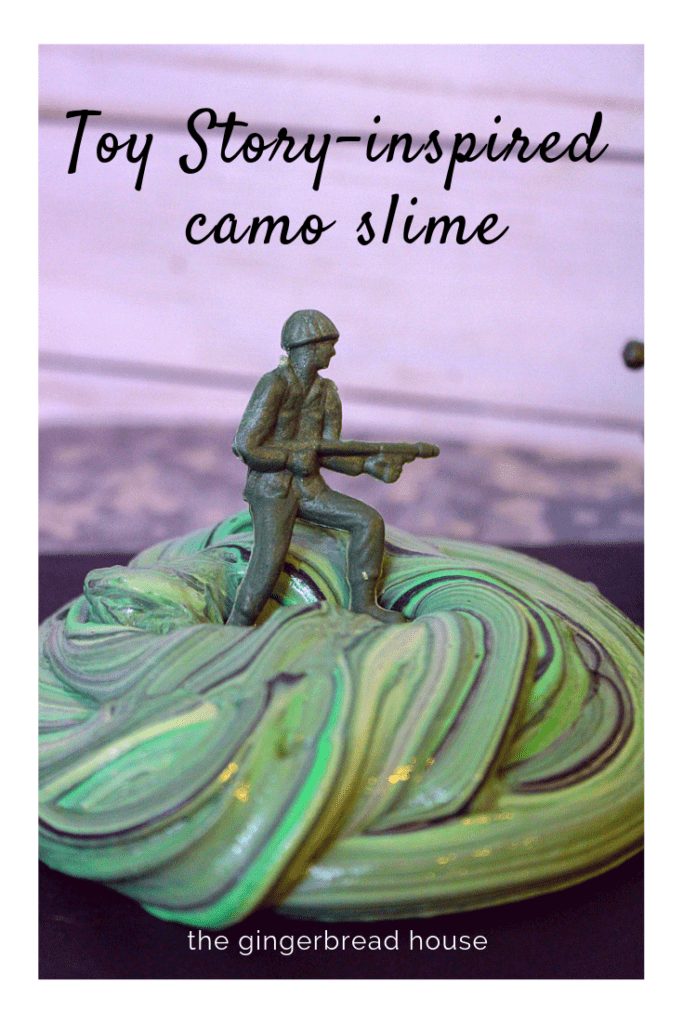 Camo Slime from The Gingerbread House