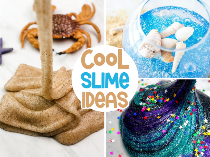 Cool Slime Ideas for Kids collage