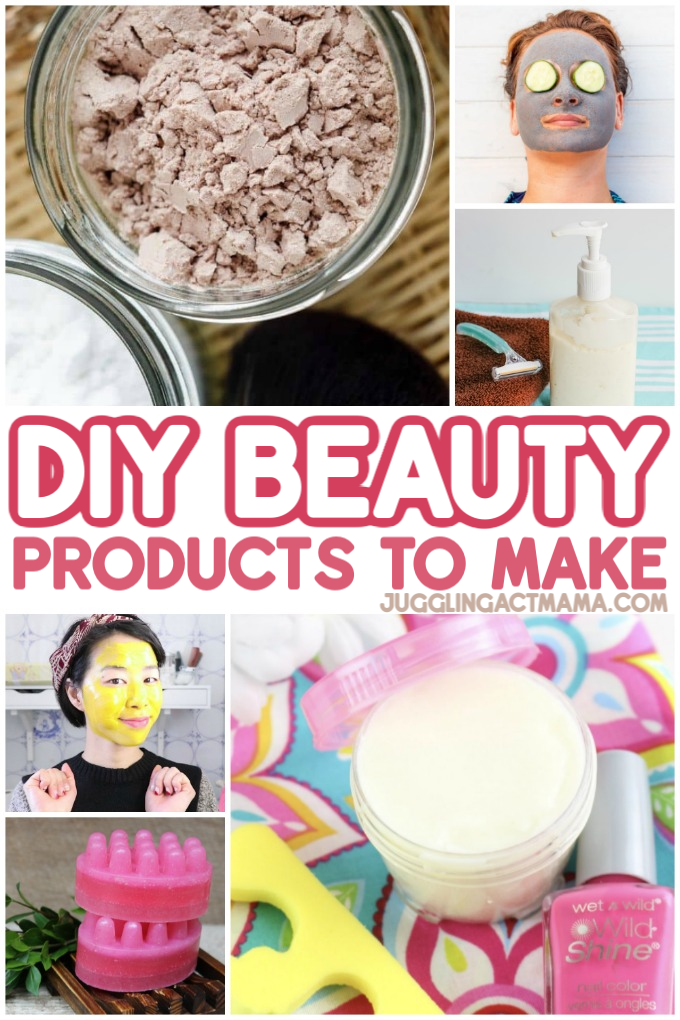 Homemade beauty products more frugal, and you can also control the ingredients that go into them. Beauty products are becoming more and more expensive, and for that reason alone, you may want to try making DIY beauty products to cut down on costs. via @jugglingactmama