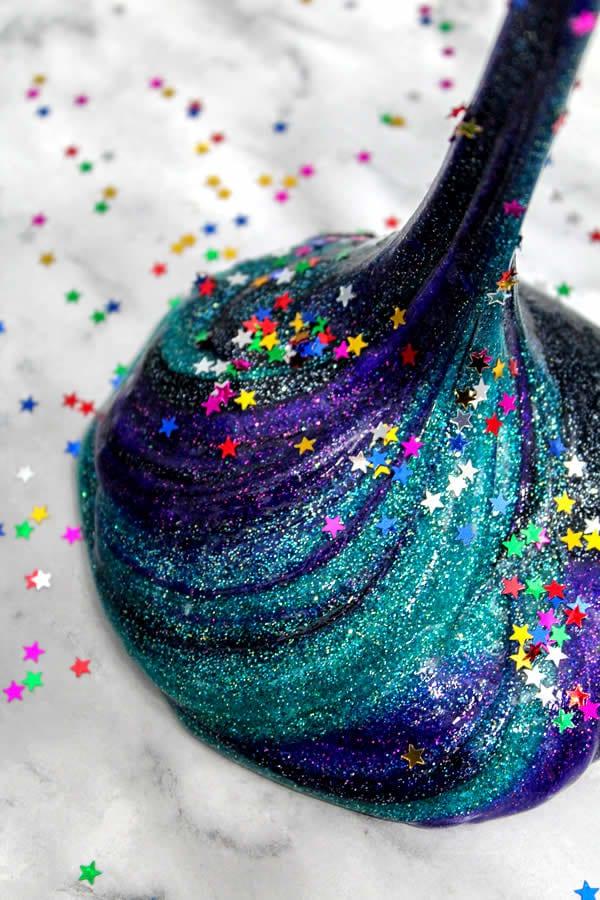Galaxy Slime from Kimspired DIY - fun slime ideas