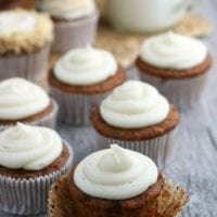 close up of carrot cupcakes