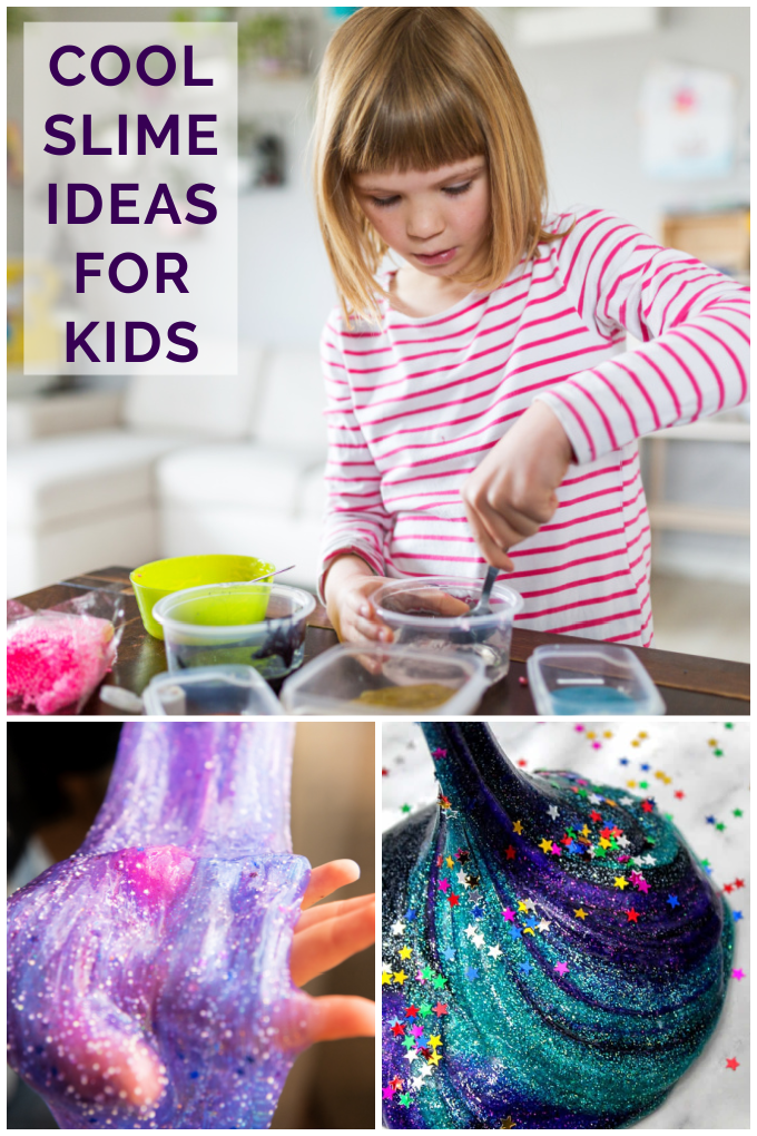 Kids of all ages, from toddlers to teens, enjoy making slime. It's such a fun sensory experience! We've found some super cool slime ideas for you to try with your kids, and we're sure they'll love each one. via @jugglingactmama
