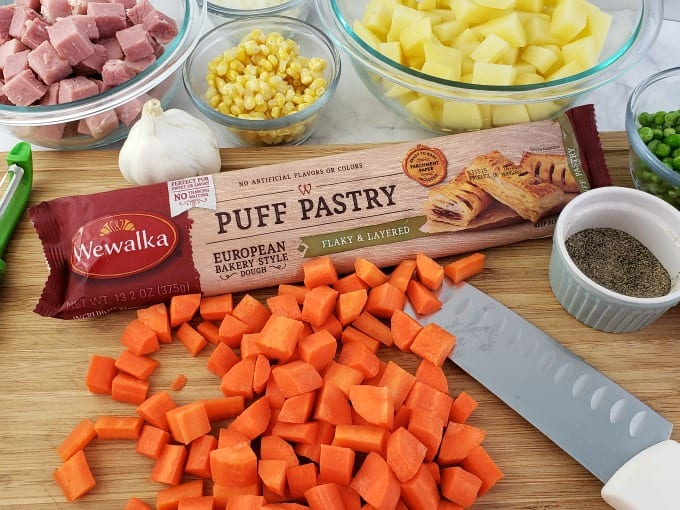 ingredients for ham pot pie recipe