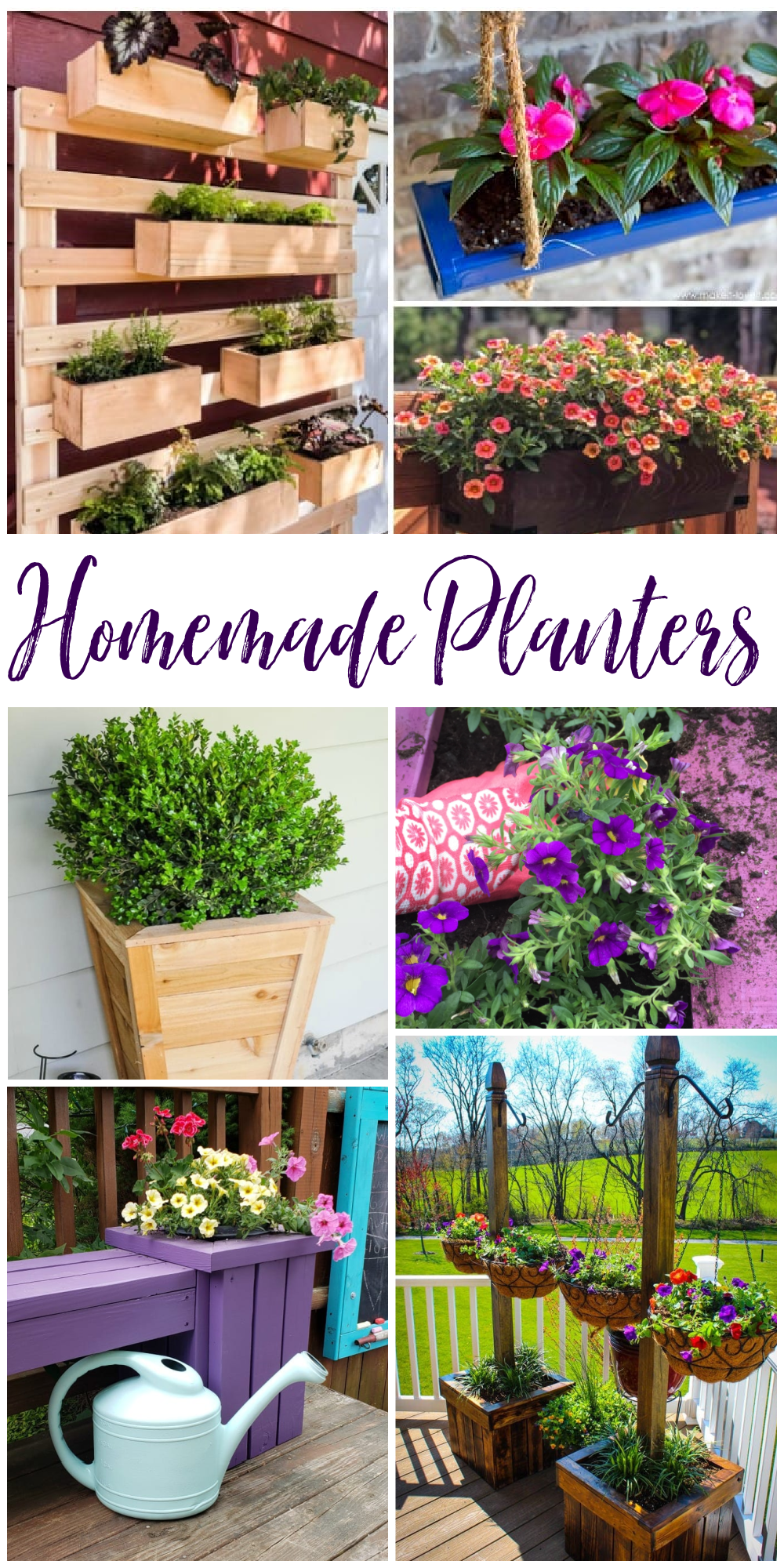 Add simple DIY Garden Containers to your garden or porch with these simple ideas. via @jugglingactmama