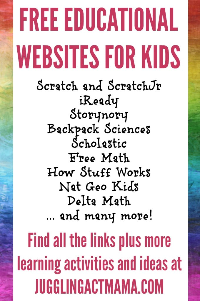 Finding free online learning activities might feel a little overwhelming right now, so we've created a list I think you're going to love! From math and science to yoga and music and even free virtual field trips, we have a huge list of options for you! via @jugglingactmama