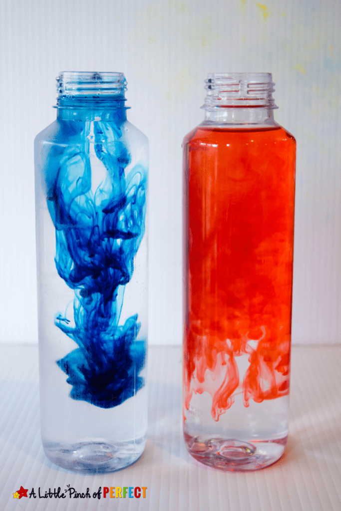 Red and Blue Food Coloring Race from A Little Pinch of Perfect