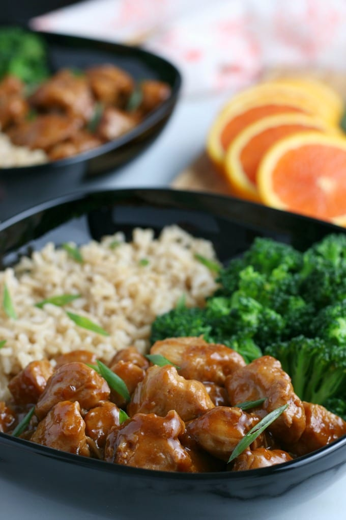 This Instant Pot Orange Chicken recipe is delicious and has all the flavor of your favorite take out meal without the expense or the wait. via @jugglingactmama