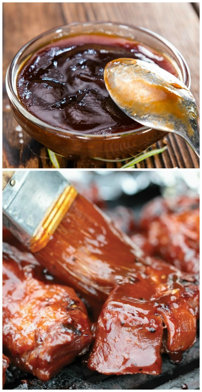 Homemade barbecue sauce doesn't have to be complicated. You'll find this Cherry BBQ Sauce is the perfect sweet & savory addition to your Summer BBQ. via @jugglingactmama