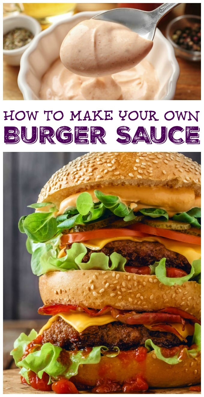 Our homemade burger sauce recipe is sure to be a new family favorite! We'll show you how to make burger sauce with pantry staples. via @jugglingactmama