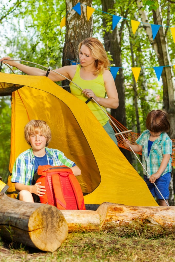 Backyard camping is a great experience for your whole family and you don't have to pay for your campsite or worry about forgetting something at home! We have loads of great ideas and tips for making the most of your staycation adventure! via @jugglingactmama