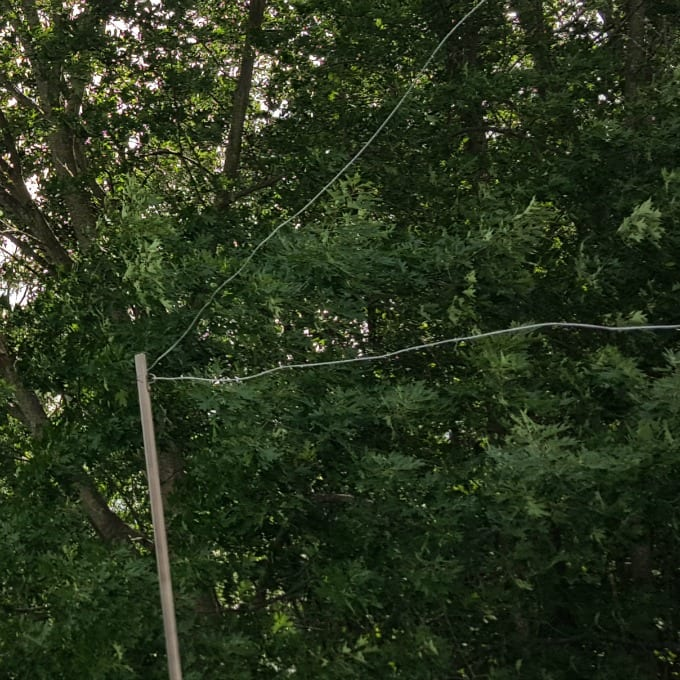 guide wire attached to an EMT pole