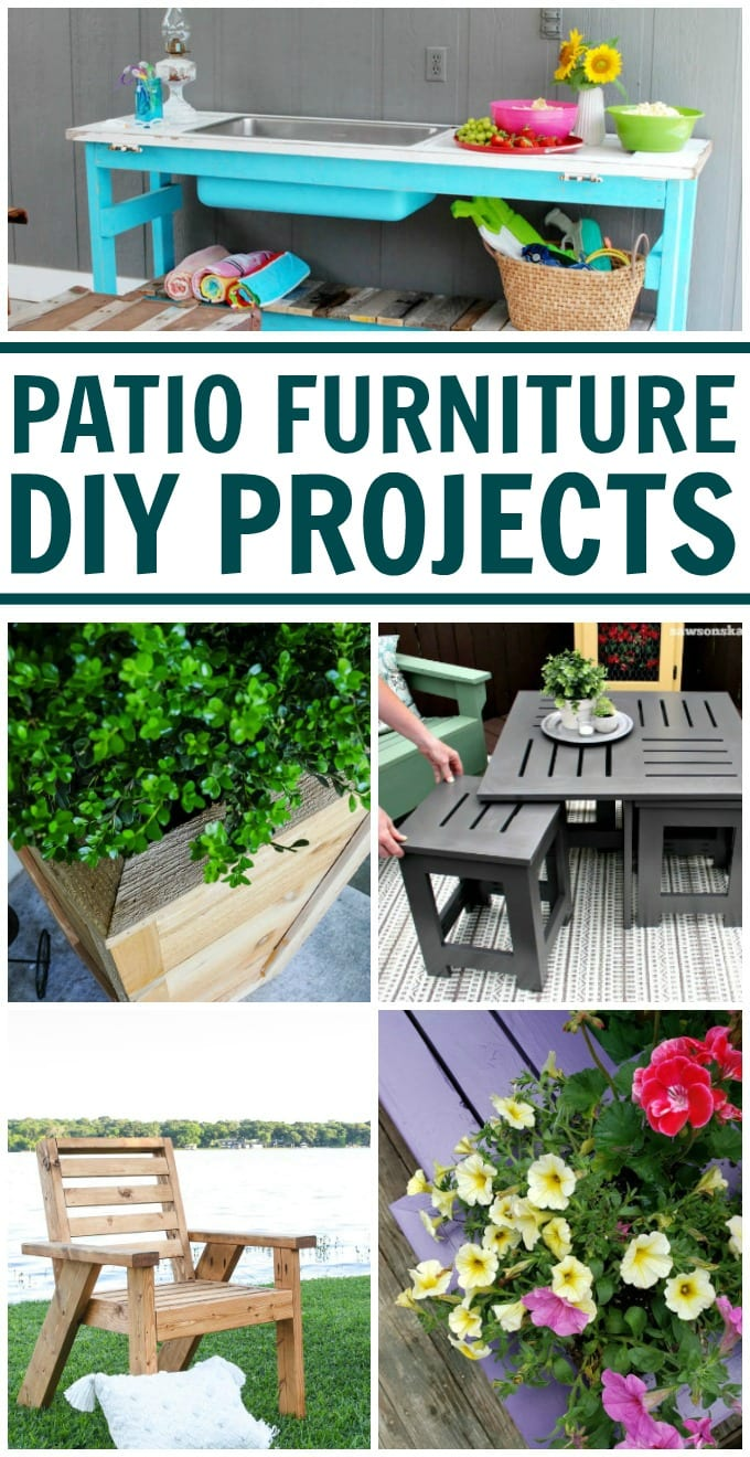 DIY Deck Furniture - Making your own DIY outdoor patio furniture is a terrific way to save money, and you get the satisfaction of a job well done! via @jugglingactmama