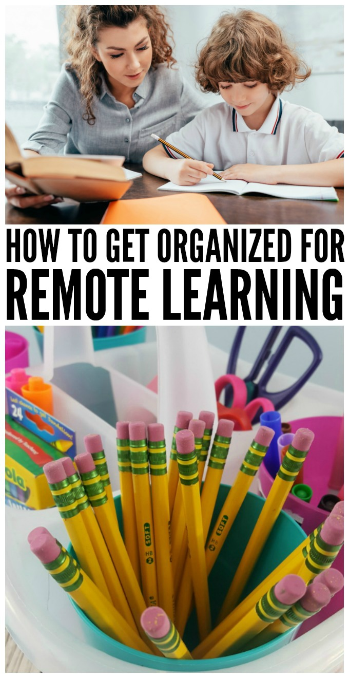 Make remote learning easier by setting up a remote learning workspace for kids. via @jugglingactmama
