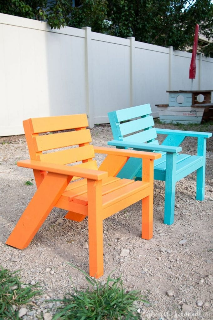 DIY Kids Patio Chairs from Houseful of Handmade