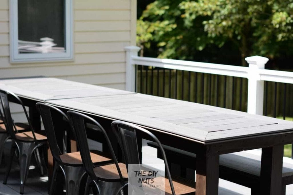 DIY Outdoor Table with Composite Decking from The DIY Nuts