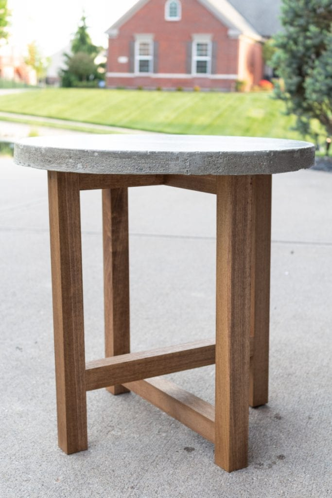 DIY Outdoor Concrete Table from The Lived-In Look