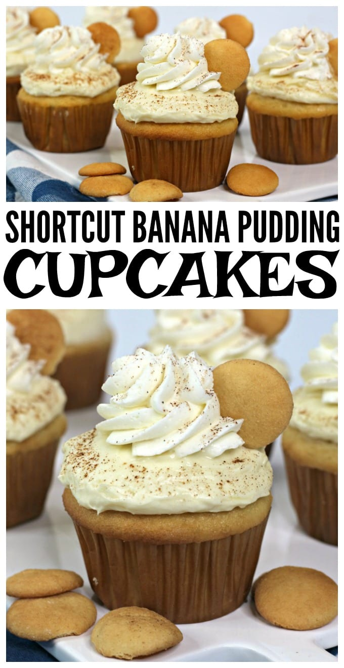Banana Pudding Cupcake Recipe - These moist delicious cupcakes are super simple to make and perfect when you need to whip up a quick treat on short notice. via @jugglingactmama