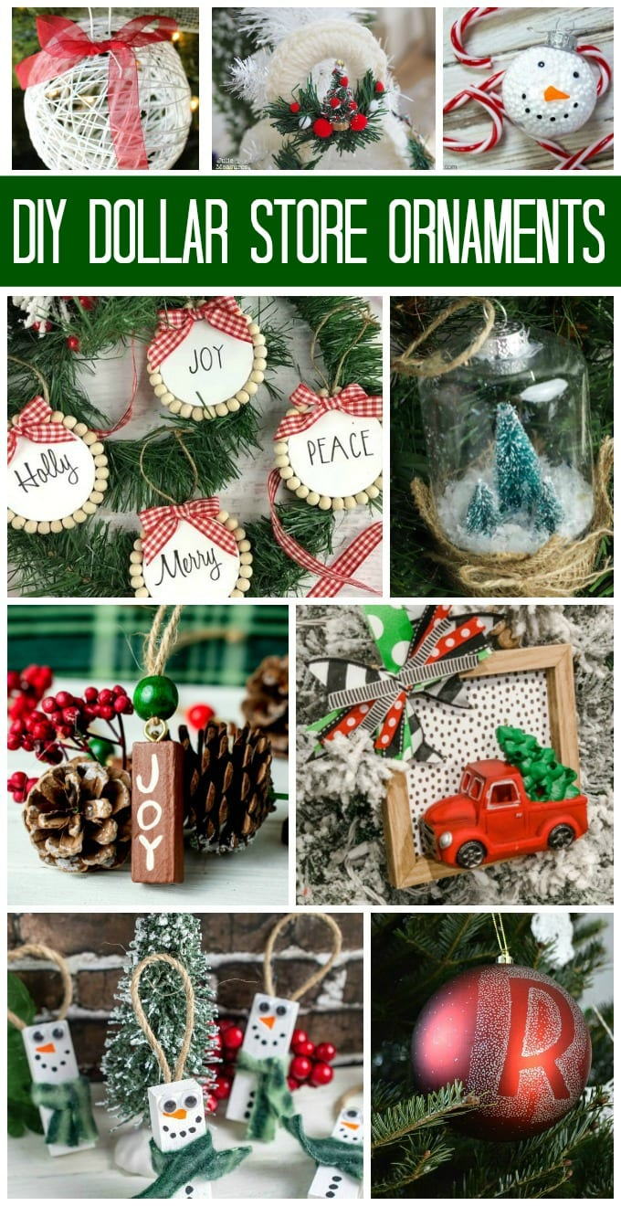 Making your own easy cheap Christmas crafts like Dollar Store Ornaments is a great way to be creative and save money during the holidays. Don't be fooled, we've collected some amazingly gorgeous DIY ornaments that do not look cheap at all! via @jugglingactmama