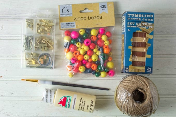 materials needed to make painted wooden Christmas ornaments