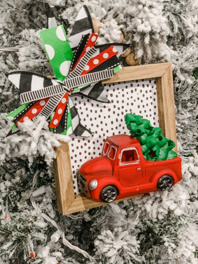 Easy Cheap Christmas Crafts - Christmas Truck Ornament