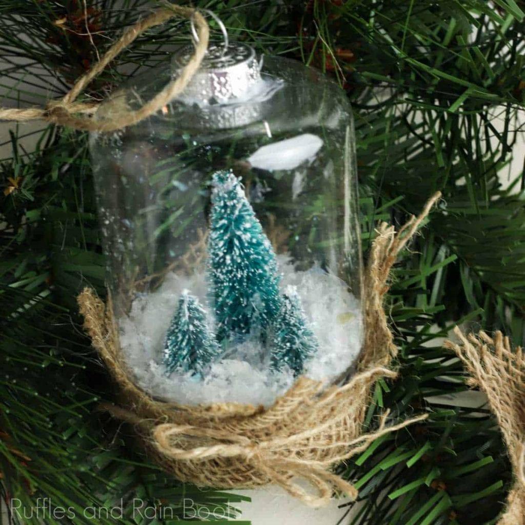 Dollar Store Ornaments - Snow Globe Ornament