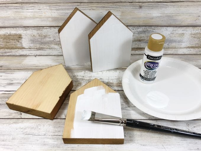 How to Make Little Wooden Houses - step 1