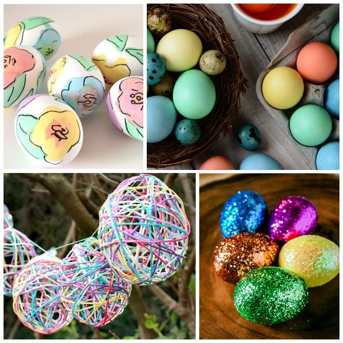 Easter egg collage image