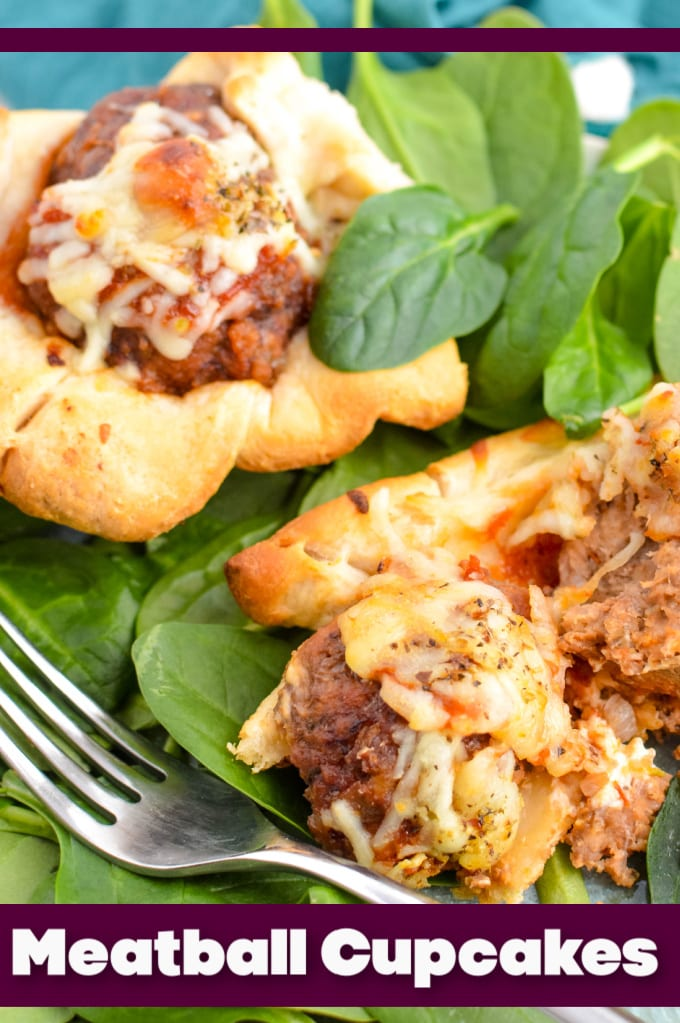 Crescent Roll Meatball Muffins - Whether you serve these Meatball Cupcakes a a meal with a salad, or as an appetizer, it's sure to be a palate pleaser! What could be better than tender meatballs, gooey melted mozzarella cheese, tomato sauce all wrapped up in a little crescent roll dough? via @jugglingactmama