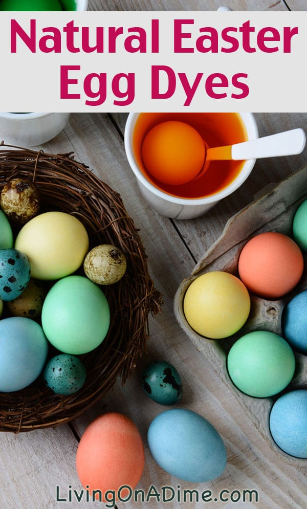 DIY Ways to Decorate Easter Eggs - Natural Dye Easter Eggs from Living on a Dime