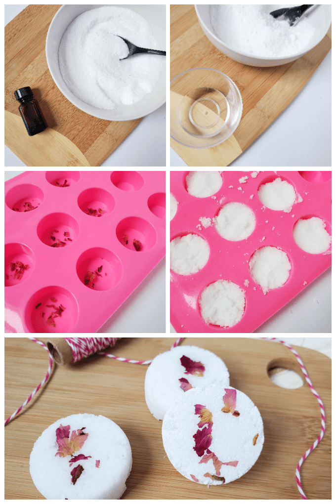 How to Make Shower Steamers collage