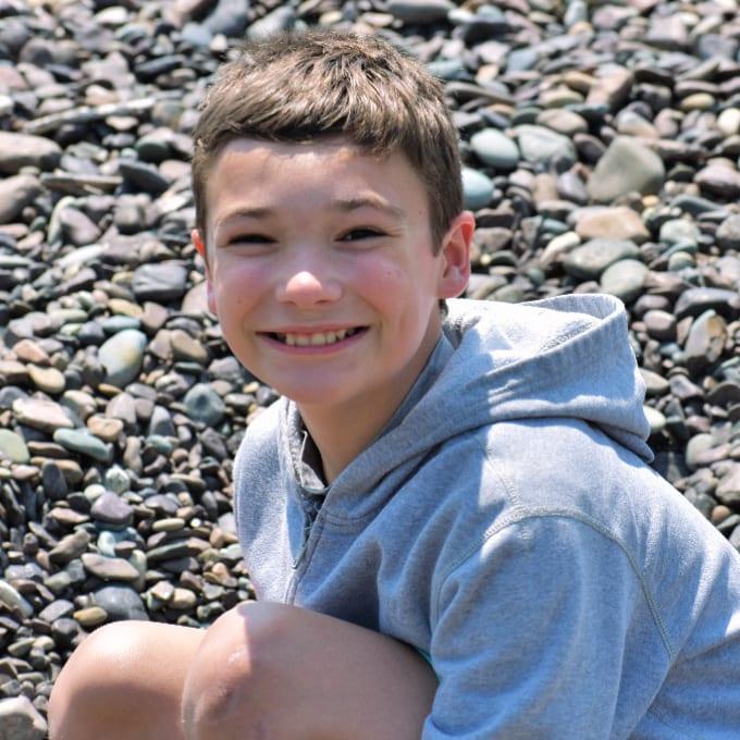 Child on Jasper Beach