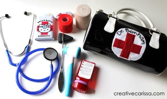 Homemade kids doctor kit