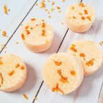 Top down view of citrus essential oil shower steamers.